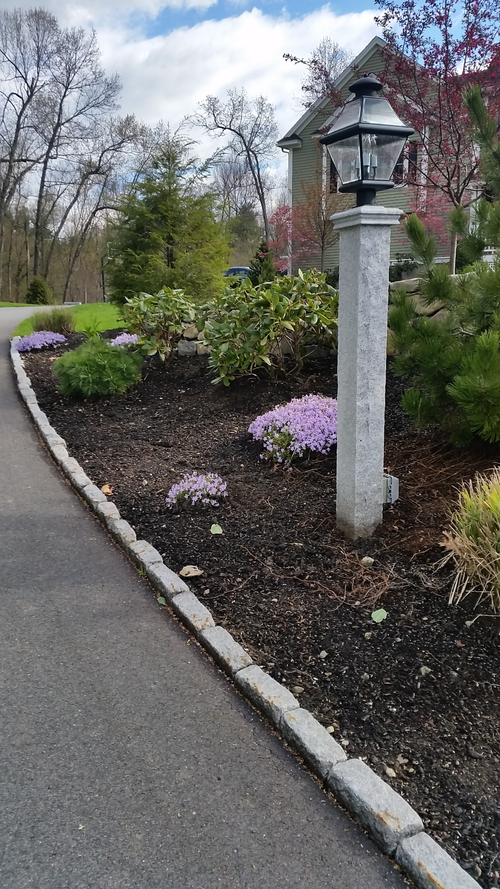 Walls and masonry work environmental gardens granite light post mozeypictures Image collections