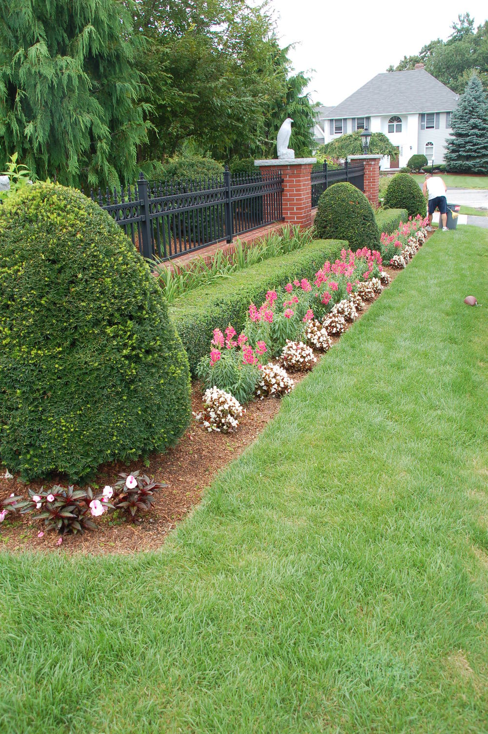 Brick Wall, Planter Bed, Lawn in Andover