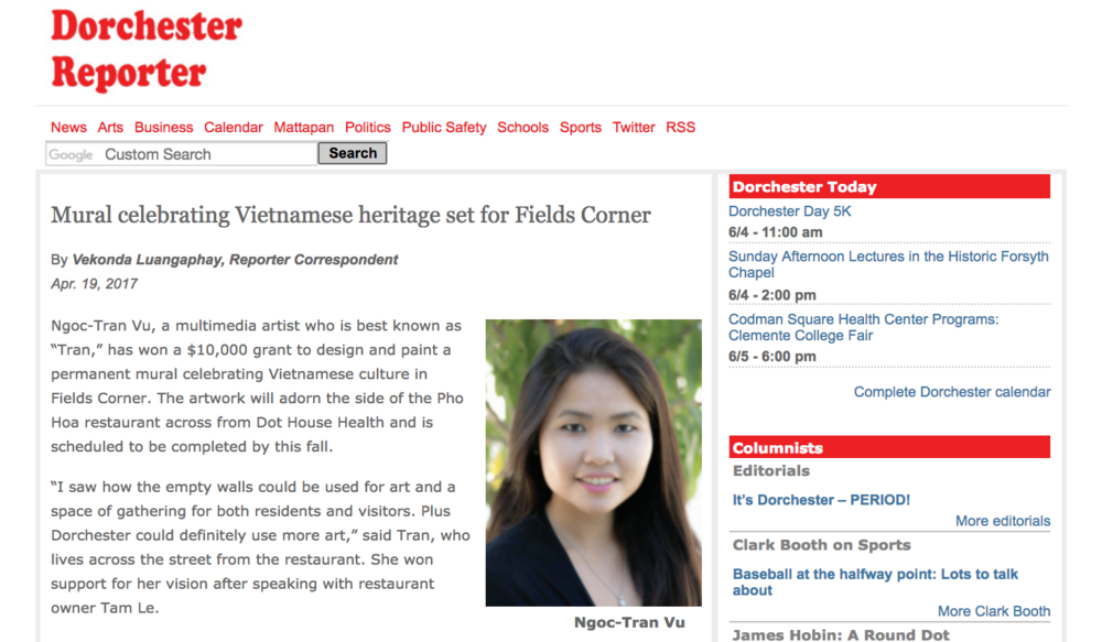 Mural celebrating Vietnamese heritage set for Fields Corner