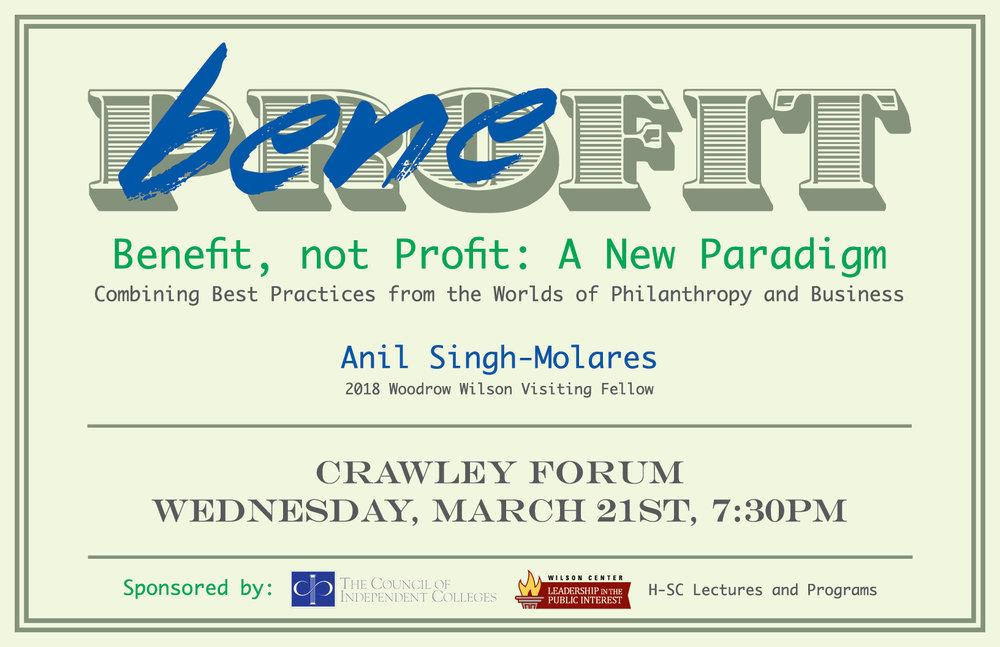 Benefit, not Profit Poster