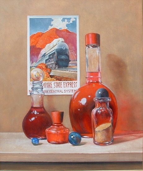 """Red Arrangement"" oil painting by Jerry Glass"