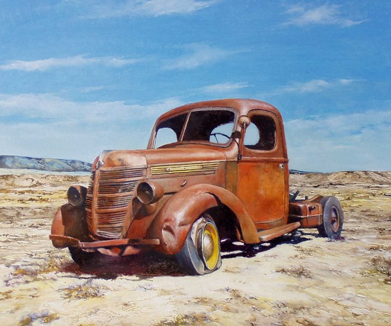 """Abandoned"" oil painting by Jerry Glass"