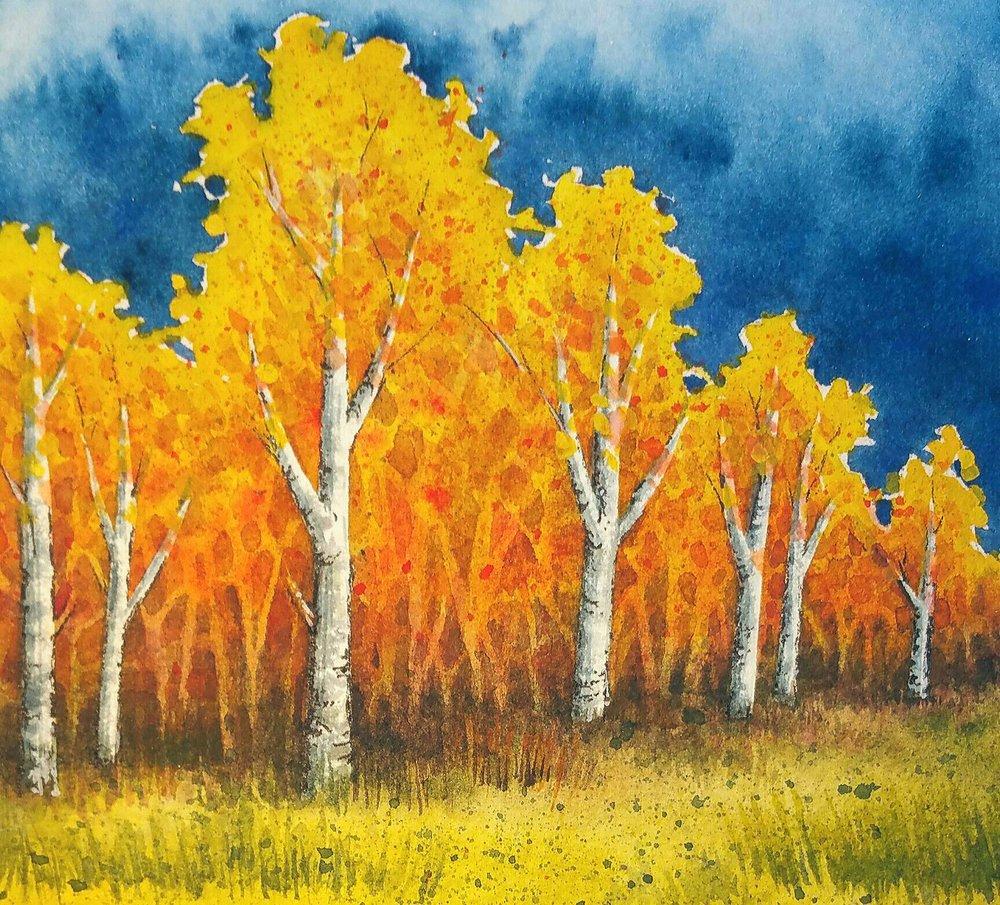 Original Watercolor Painting by Paula Wilson-Caziér / Honey Tree Studios