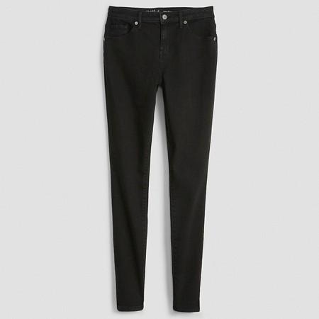 8. Mid Rise Skinny Black Jeans
