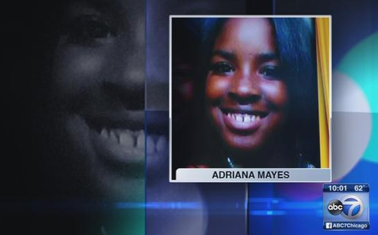 Adrianna Mayes, 21, was shot and killed in front of her daughter in Chicago's Roseland neighborhood on October 3, 2016.