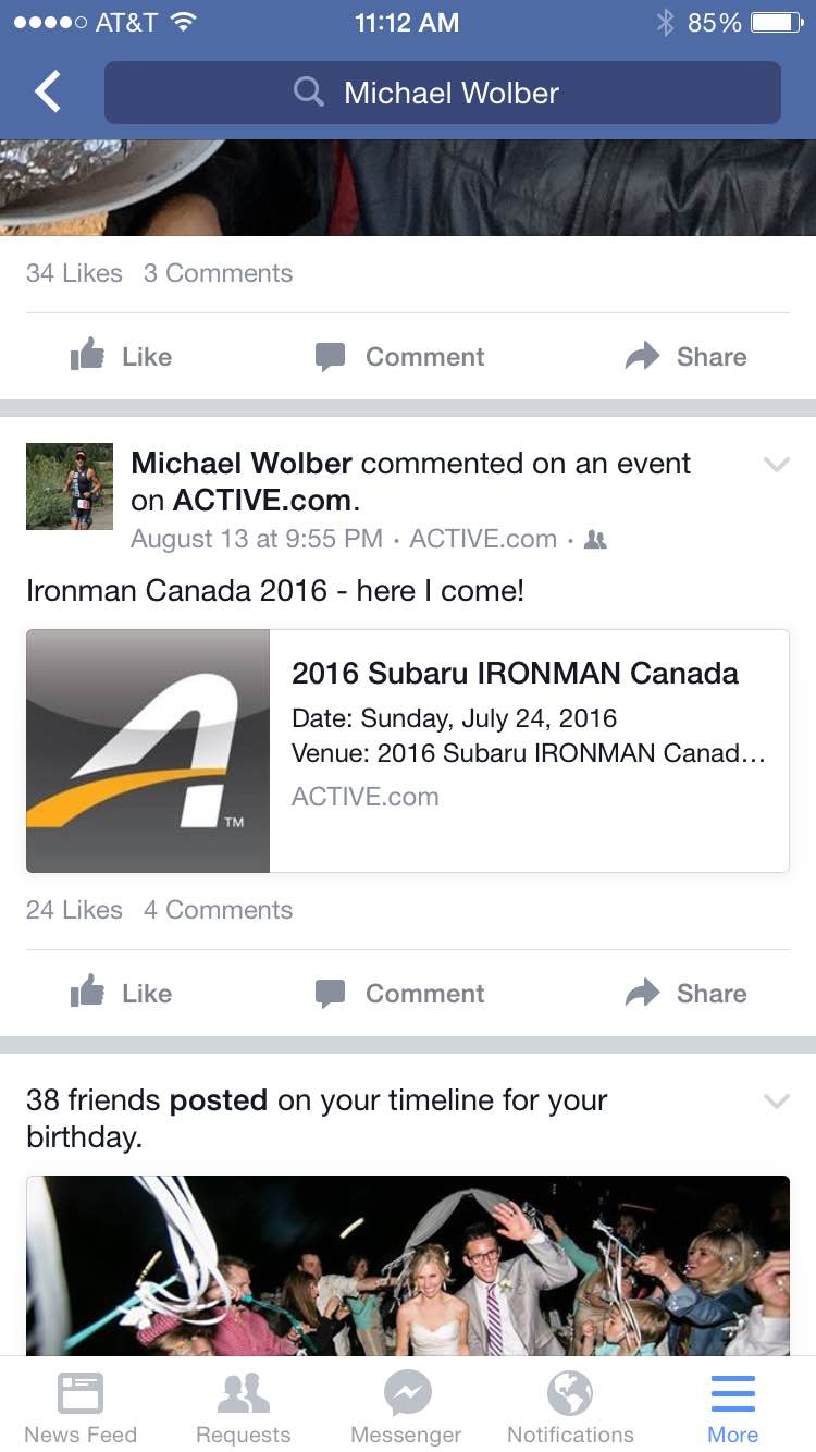 I'm officially signed up for Ironman Canada 2016 in Whistler, BC!