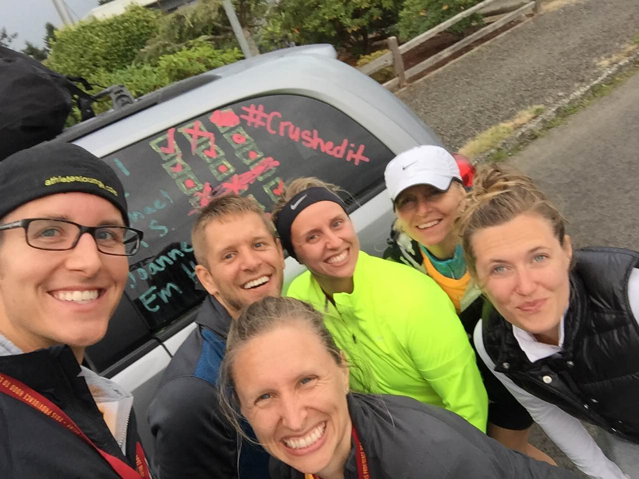 Selfie with the Van 2 runners once we had made it to the coast!