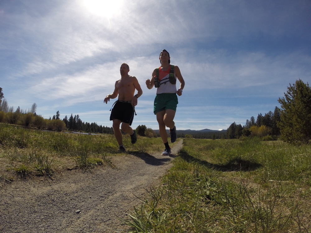Long run with my Dad on the Deschutes River in Bend, Oregon. This is from the week of training that I referenced above.