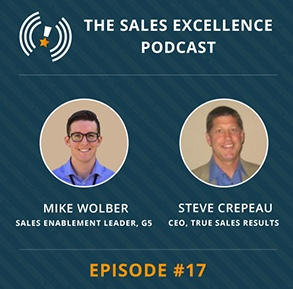 Sales Enablement Podcast with Mike Wolber and Steve Crepeau on MindTickle