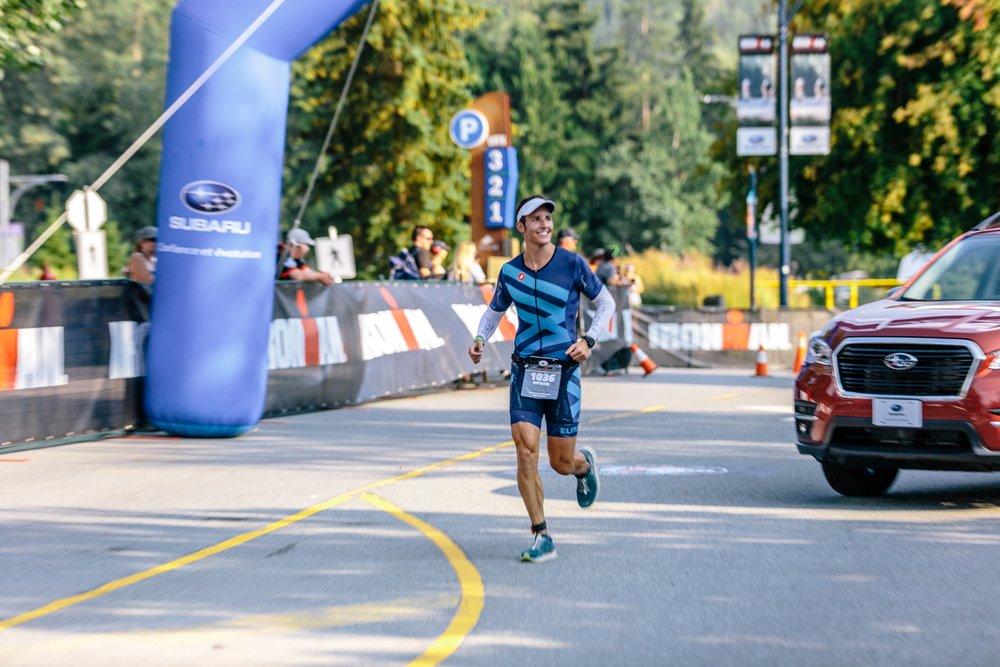 Enjoying the final quarter mile of the grueling marathon. Photo Credit:  Will Harlan.