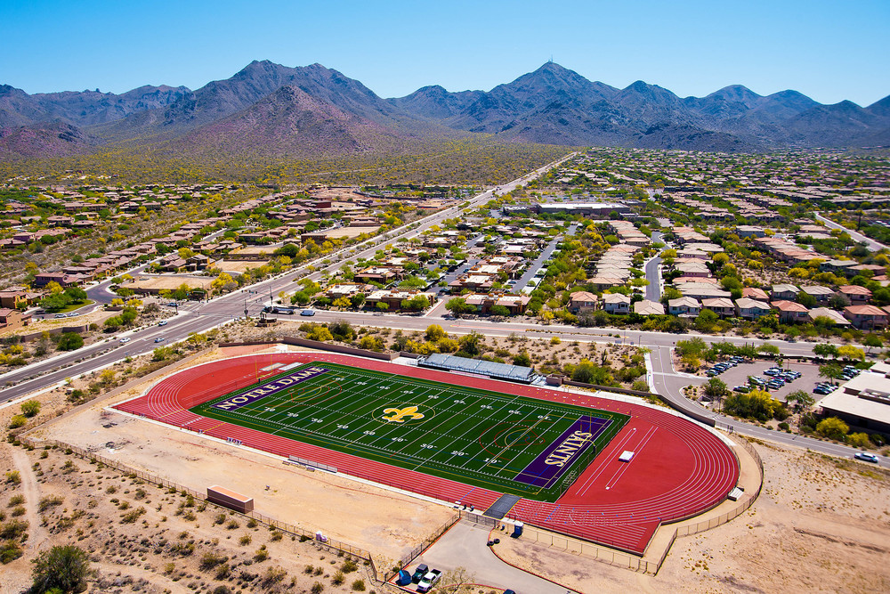 Pinnacle High School Turf By Elite Sports Builders & Core Construction