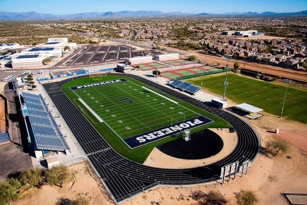 Pinnacle High School Turf By Elite Sports Builders &Core Construction
