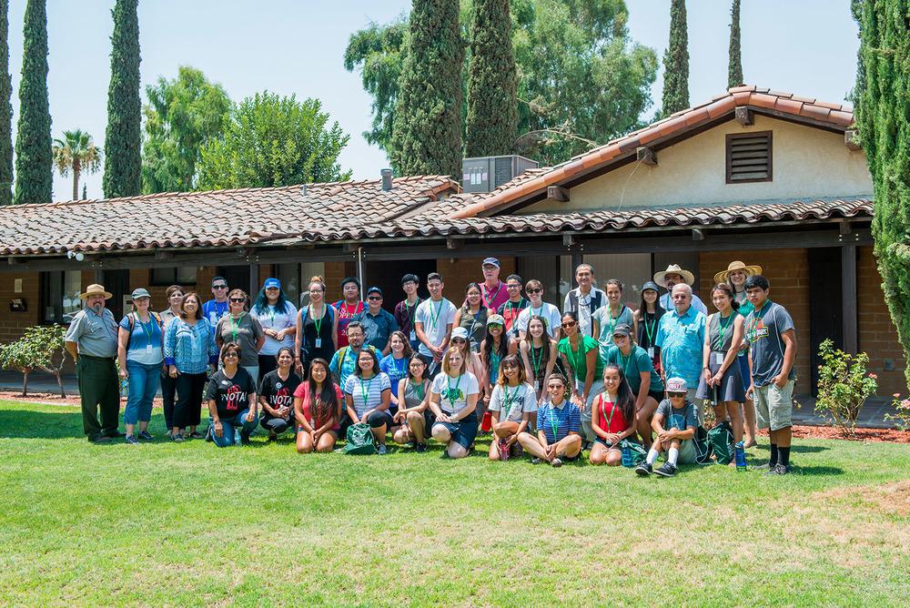 YHS California students at Agbayani Village in Delano
