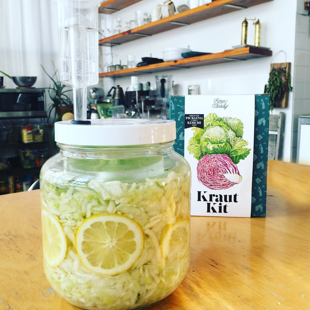 Recipe: Fennel Lemon Mint Kraut