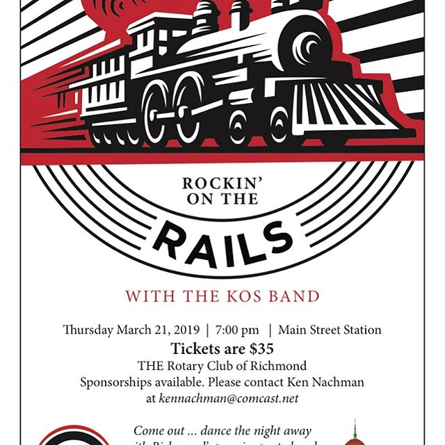 Mark your calendars for this fun event on March 21st! All proceeds benefit local charities each year. Tickets available on club website rotaryclubofrichmond.org