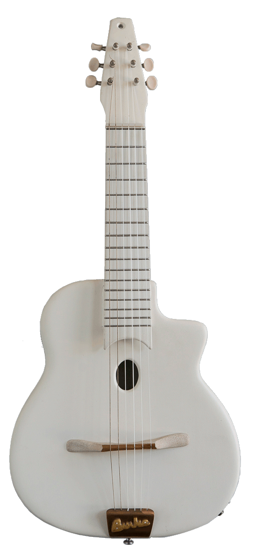 White Octave Guitar