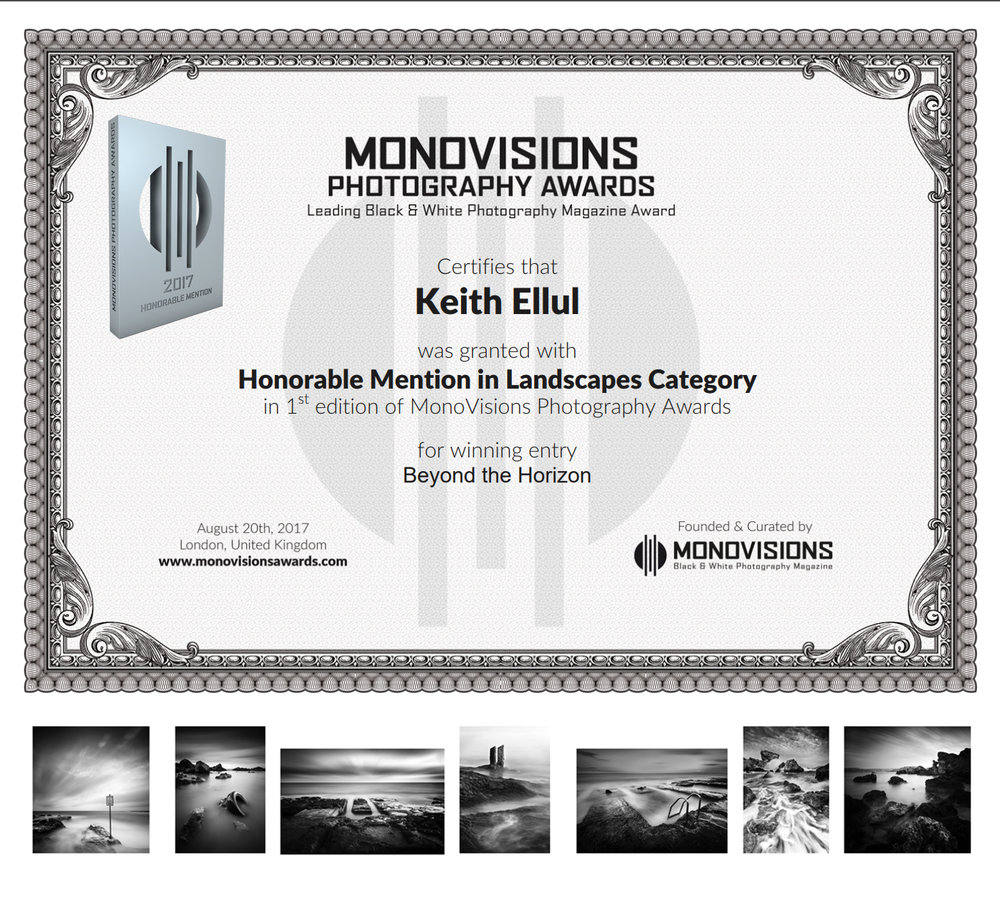Monovisions PhotographyAwards 2016 - Honorable Mention - Landscape Category - Beyond the Horizon Series