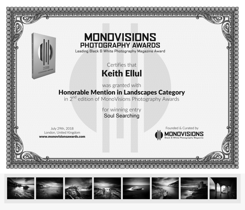 Monovisions Photography Awards 2018 - Honorable Mention - Landscape Category - Soul Searching Series