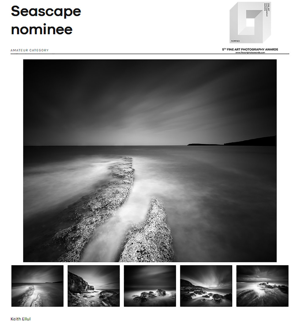 5th edition of the Fine Art Photography Awards FAPA - Nominee - Panel - Seascape
