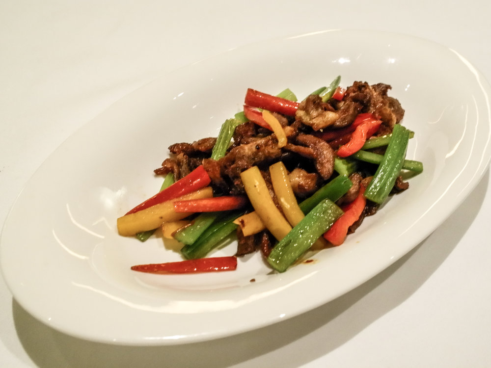 the Yan Ting - stir-fried duck with vegetable
