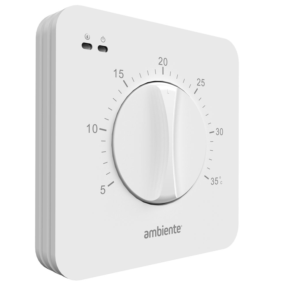 Underfloor heating dial thermostat