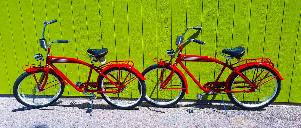 2007  New Belgium Felt Beach Cruiser - Fire Engine Red