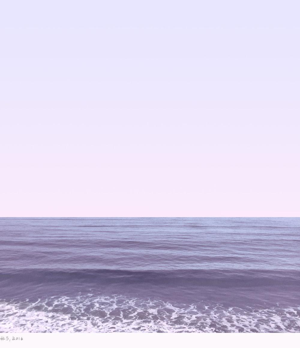 land and sea #5, 2016