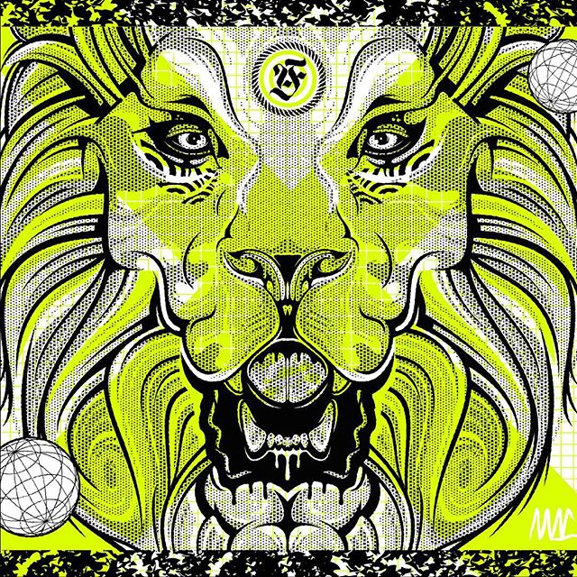 ANYFORTY 10® Tonight at 7pm UK time @anyforty @mansonspress and myself will release a super limited run of 10 premium fluro lion remix prints to celebrate the occasion 👁 . . . #print #art #illustration #fluro #premium #screenprint #handpulled #limitededition #mansonspress #anyforty #workbytommac