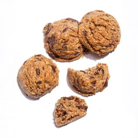 - 12 cookies for $29.00 = $2.40 per cookieServing size: 1 cookieCalories: 100 Total Fat: 8g Saturated Fat:1g Sodium:10mg TC:7g Fiber:2g Sugar:4g Protein:3gIngredients: Organic Almond Butter, Organic Almond Flour, Organic Raw Wildflower Honey, Organic Dark Chocolate (Cocoa Liquor, Cocoa Liquor Arriba, Cane Sugar, Cocoa Butter, Coya Lecithin), Organic Vanilla Extract, Organic Cardamom Powder