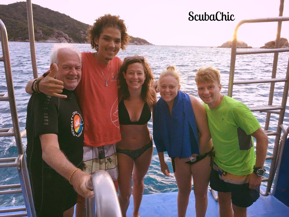 Michael's dive crew