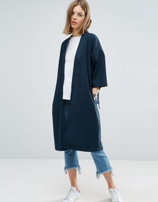 Denim Kimono with split sleeve and tie detail ASOS £65