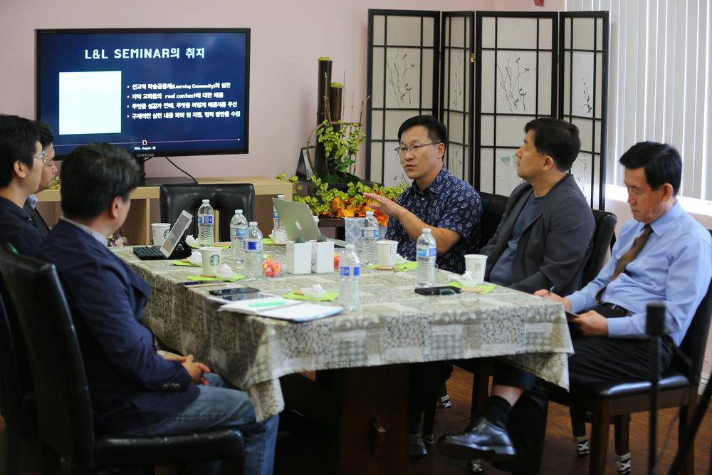 (좌측부터) 이상훈 교수님, 서종학 목사님, 이광길 교수님