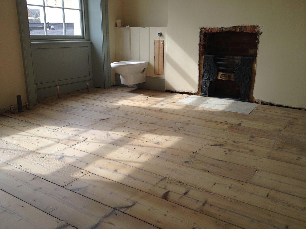Raw pine floor