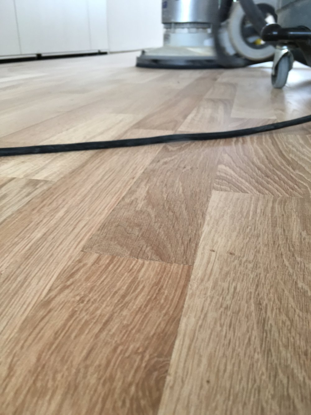 finishing an engineered oak floor