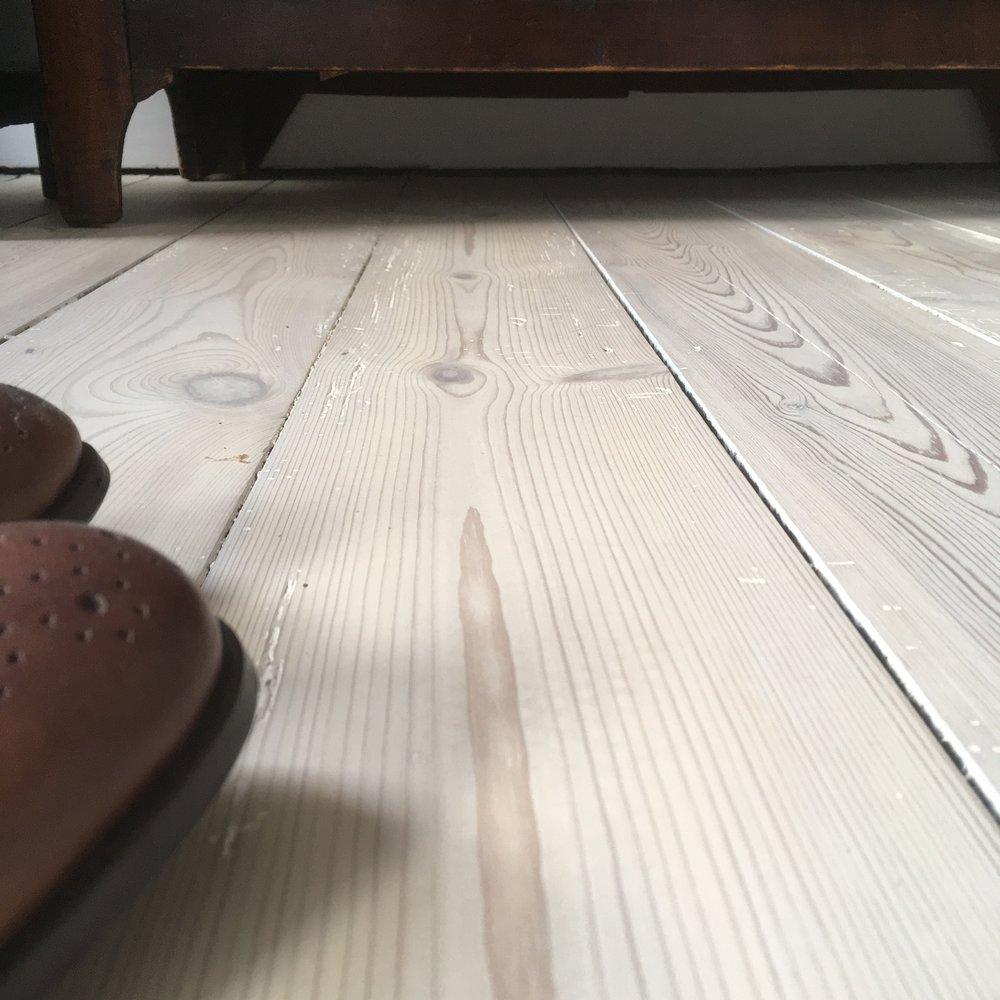 Victorian pine bleached floor