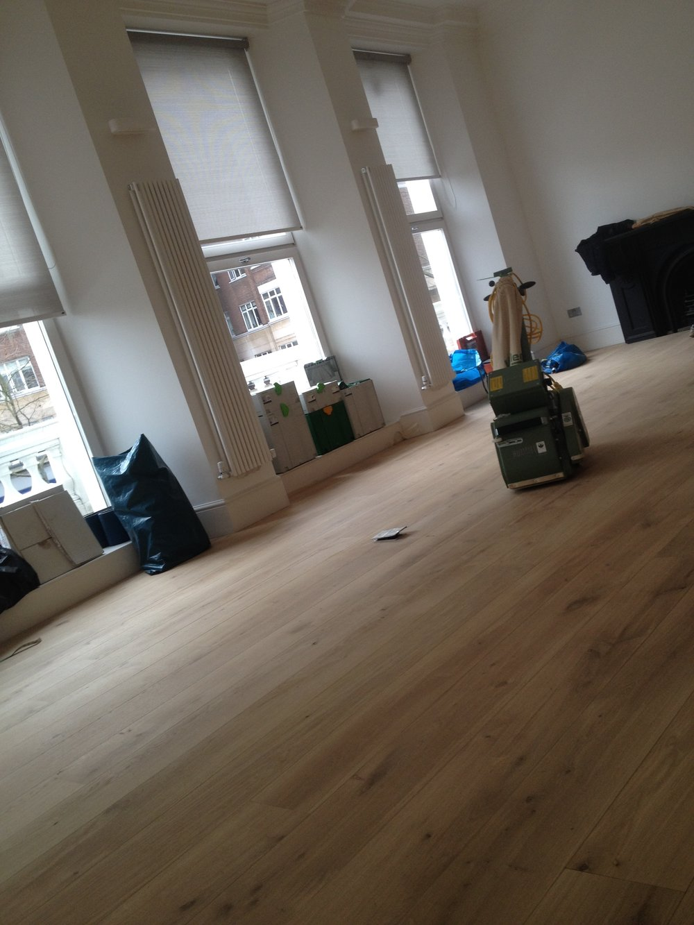 Oak wood floor sanding London
