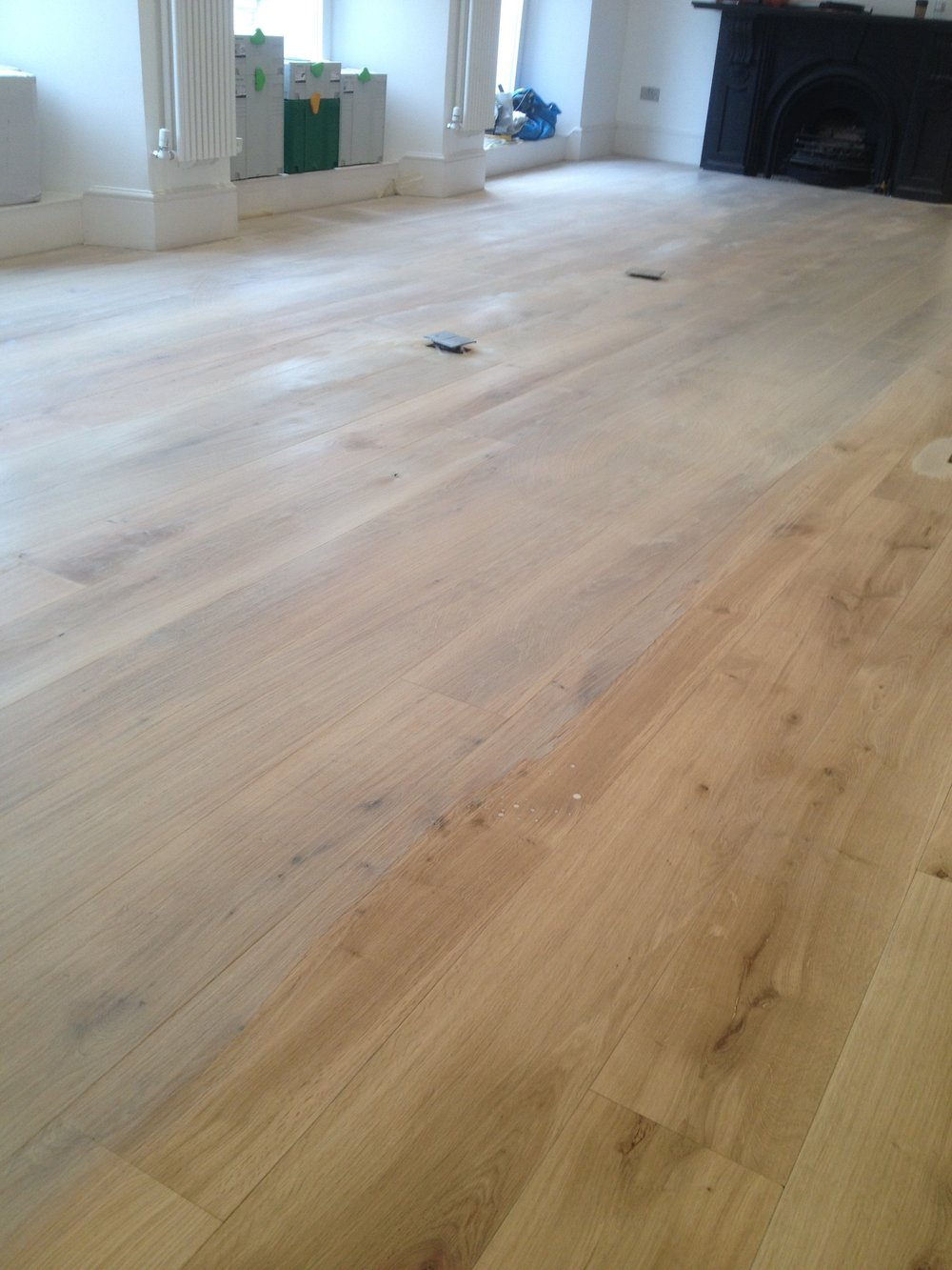 Oak whitewash floor West London