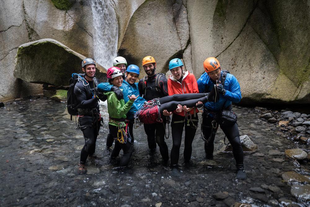 The Hawaii canyoneering crew in Canada