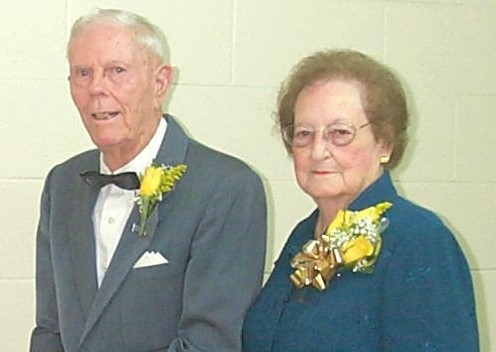 Carl and Lela Blanton on the day of their 50th anniversary.