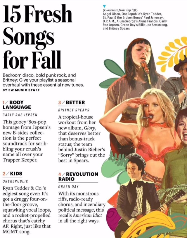 Entertainment Weekly Names 'Better' a Fresh Song For Fall — Britney Army