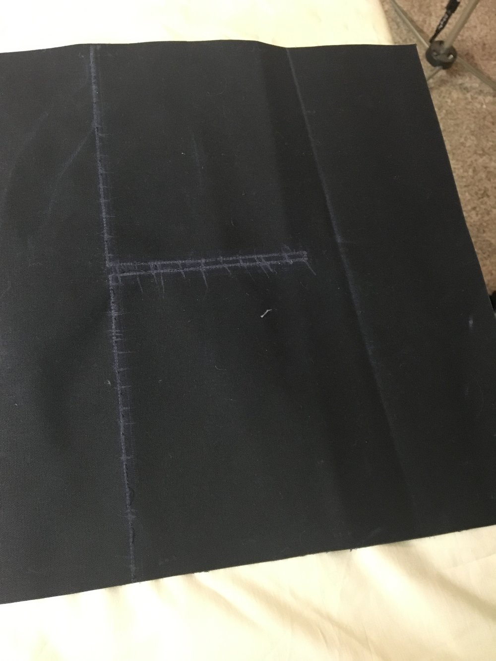 Here are the marks left by my silly late-night sewing mistake
