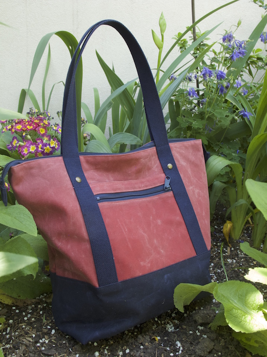 This beauty is the Chamomile Version A in Nantucket Red and Navy