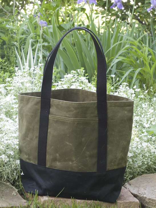 This lovely bag is the Chamomile Version B in Olive and Black