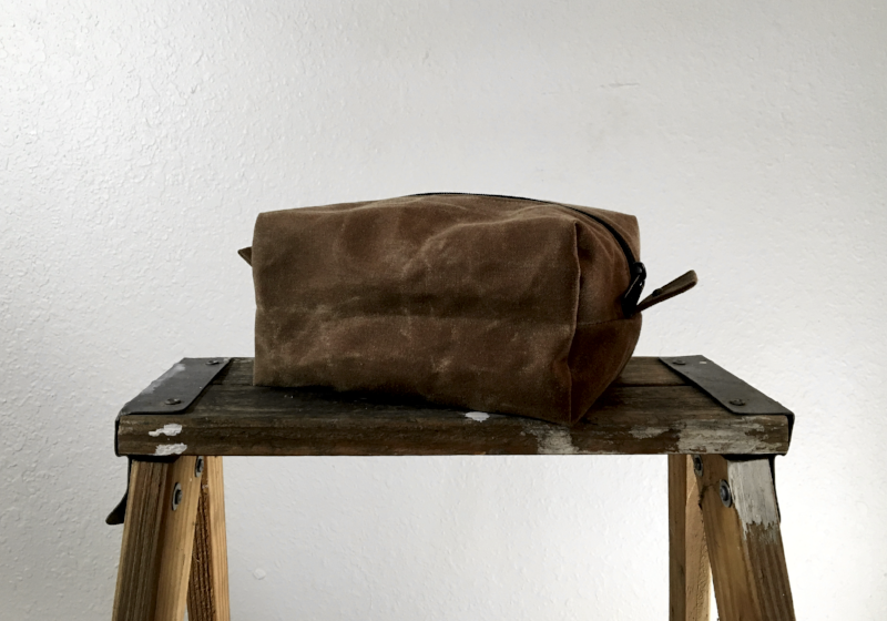A Benjamin Dopp Kit in Field Tan Waxed Canvas