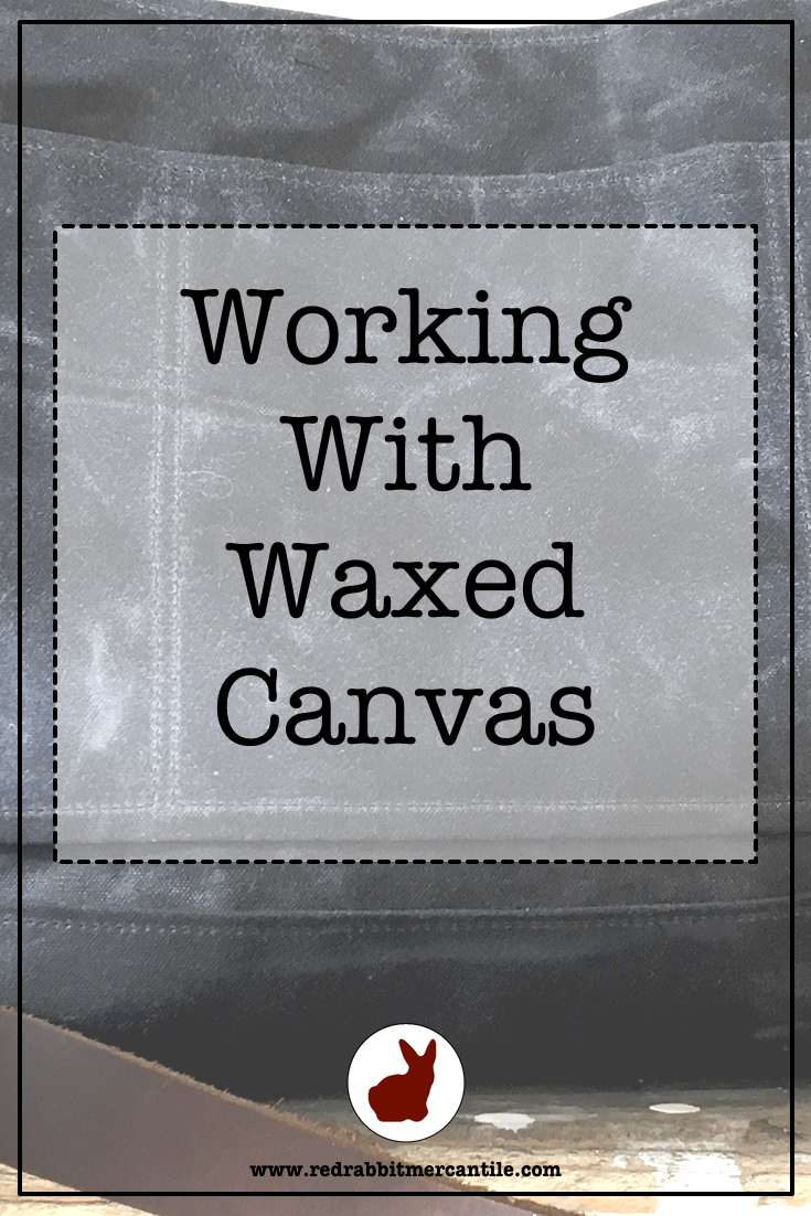 Great tips for sewing with waxed canvas fabric
