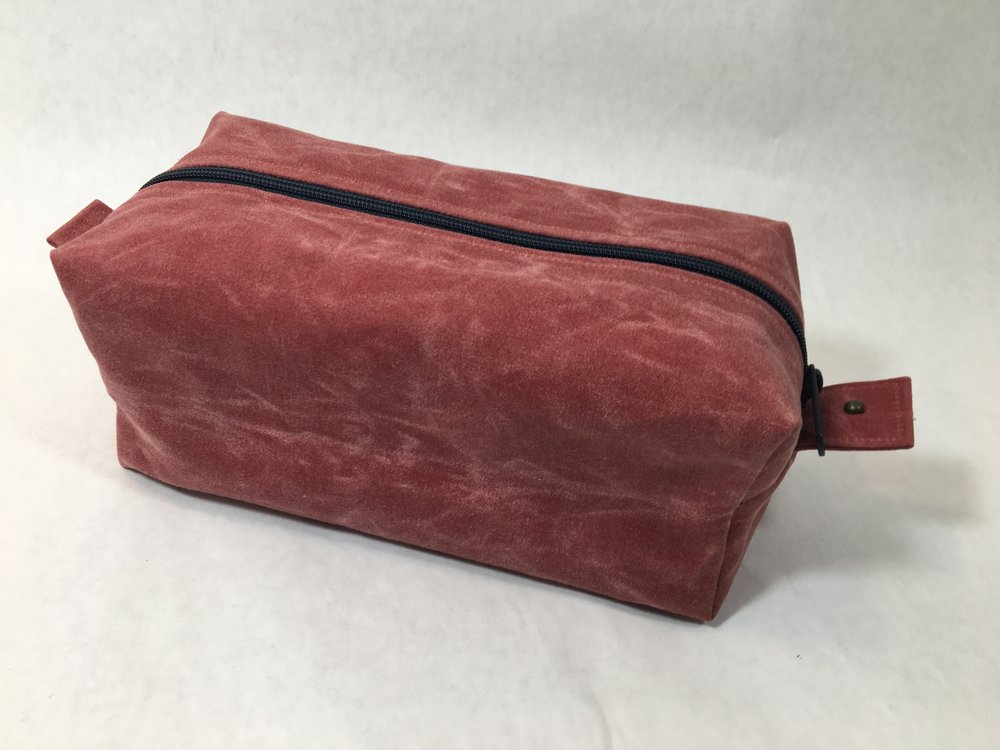 Red Rabbit Mercantile Benjamin Dopp Kit in Nantucket Red Waxed Canvas
