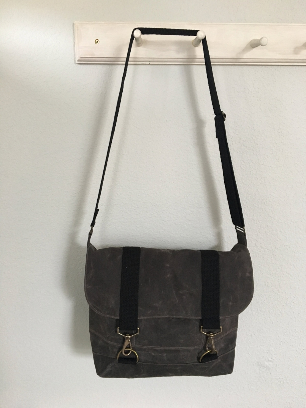 McGregor Tote in Chocolate waxed canvas
