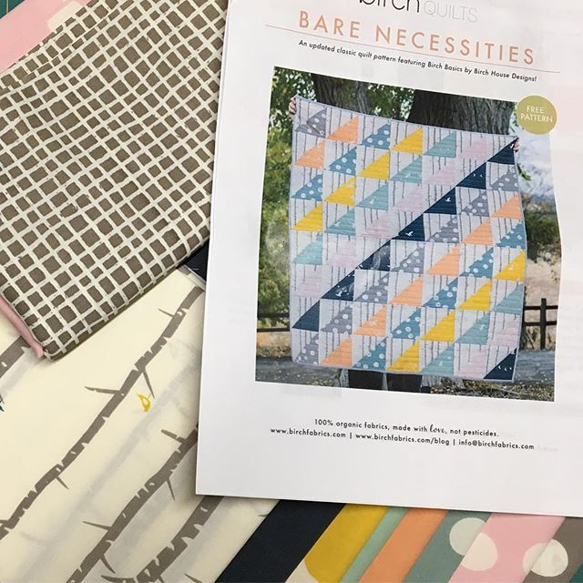 Trying something new...a quilt! After watching @christaquilts Craftsy class (while my new baby napped on me), I felt inspired to try something totally new! The kit for the @birchfabrics Bear Necessities Quilt is from @fabricworm . I can't wait to get started! . . . @becraftsy @christaquilts @fabricworm @birchfabrics #quilting #modernquilt #organicfabric #handmade #sewing #diy #maker