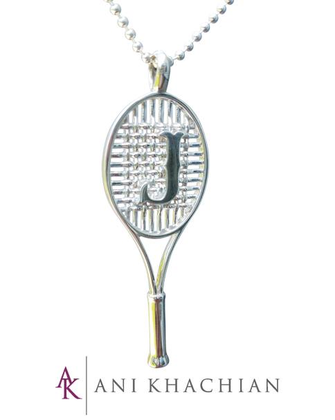 Racquet monogram pendant ani fine jewelry racquet monogram pendant aloadofball Images