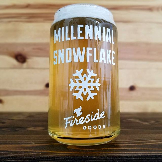 Never forget that you are a special little snowflake unique in every way.  New beer can glasses available on our website. Check back for more designs coming soon. Cheers!  #beer #craftbeer #pintglass #beercan #glassware #barware